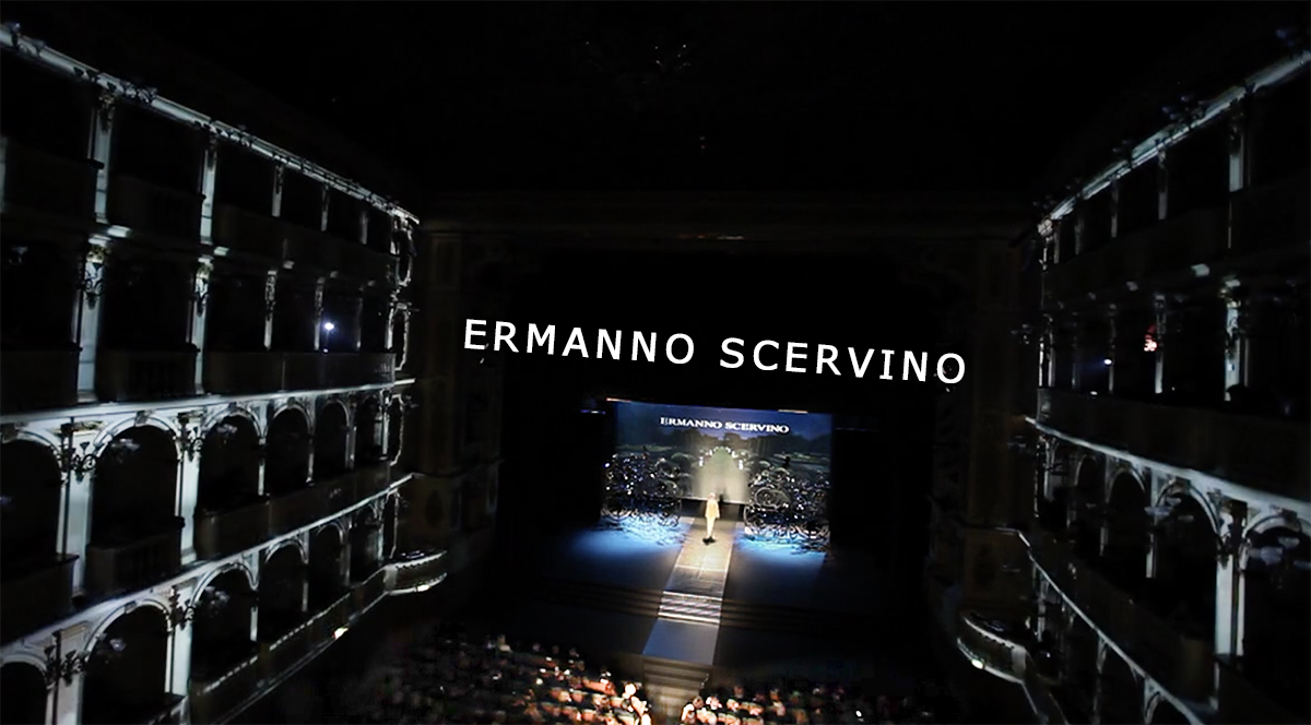 Ermanno Scervino Sfilata Fashion, Video mapping
